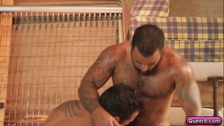 Two gay lovers fuck it out on their house